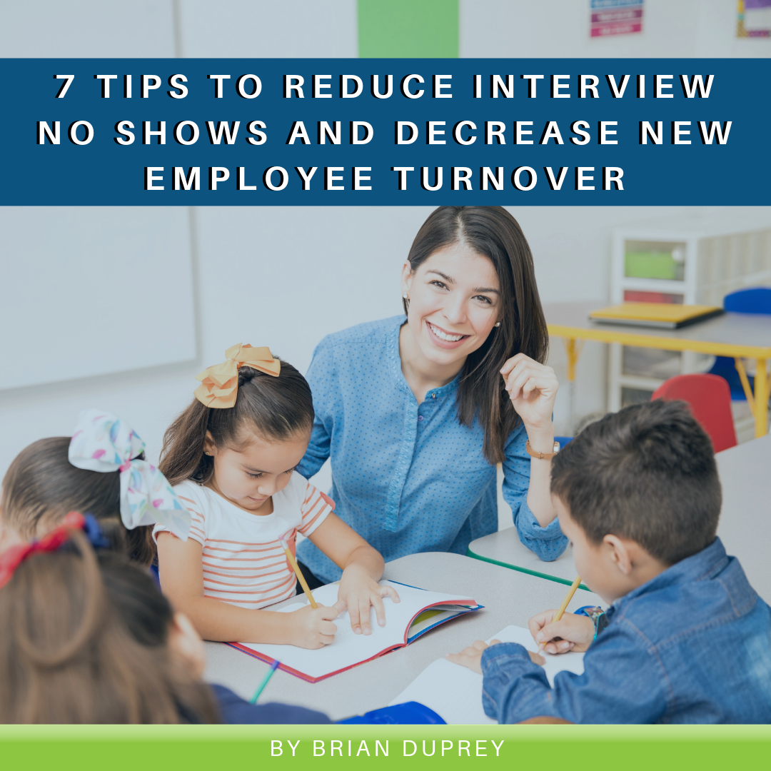 Read more about the article 7 Tips to Reduce Interview No Shows and Decrease New Employee Turnover