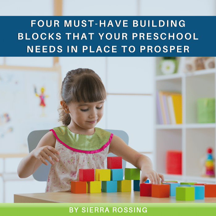 Four Must-Have Building Blocks That Your Preschool Needs in Place to Prosper